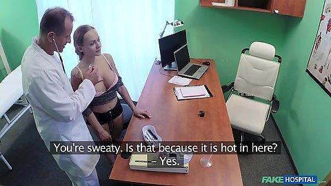 Groping some boobies during medical exam Katerina Muti