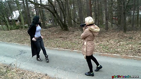Victoria Pure and Nikita Ricci want to make a video of themselves in public