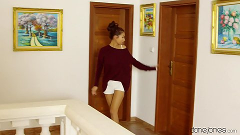 Fully clothed asian Paula Shy going for a secret fuck