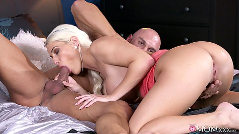 Dick sucking while getting her pierced pussy fingered Blanche Bradburry