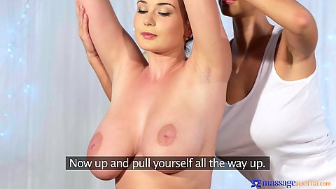 Big chested girls go for massage Lucy Li and Nathaly Cherie