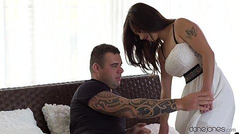 Busty milf in white dress Lin Lee