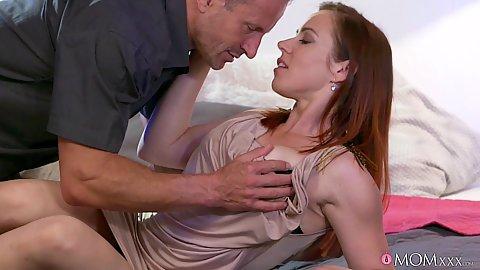 Redhead milf Bibi Fox in couple sex undressing