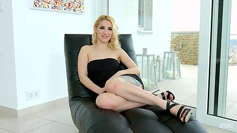 Sexy fabulous Luna Melba doing interview while in clothes