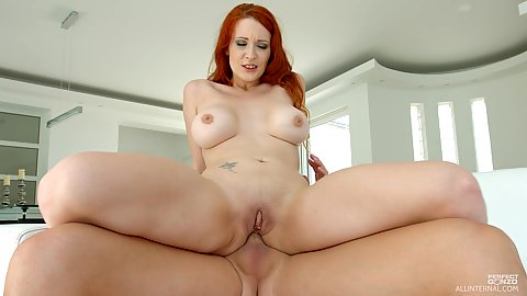 Anal reverse cowgirl sitting redhead Isabella Lui