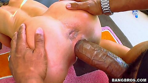 Hot hungarian girl gets her pussy super gapped and fucked