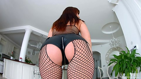 Fishnet booty from position Canadian girl Lydia Lust