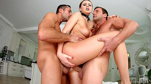 Gang bang standing fuck double penetration for tight holes girl Tina Kay
