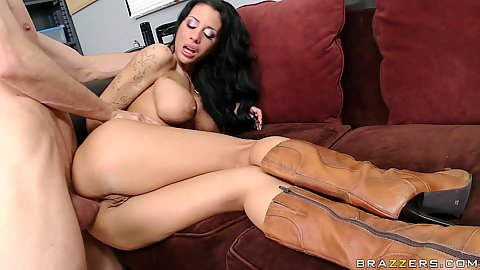 Mya Nicole sideways fuck uped into her tight anus