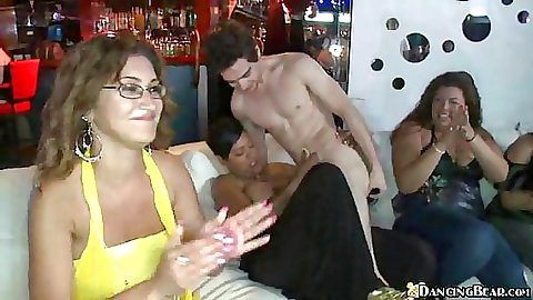 Dancing Bear arriving at a slut filled club