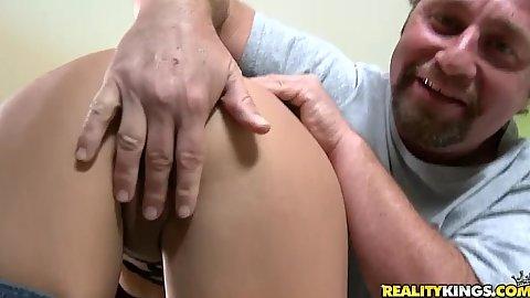 Milf humps guys cock with no panties