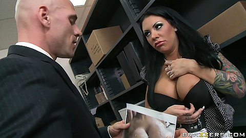 Big tits Mason now has to strip for boss