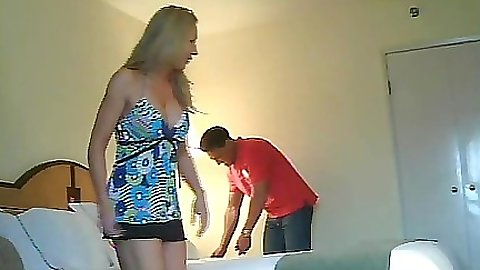 Milf gets caught cheating on her hubby on a home vid