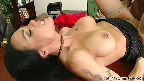 Milf waits no longer jumps on the table and puts her legs