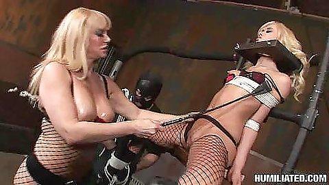 Rebecca Blue and her slutty friend getting tortured