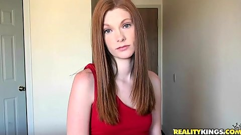 Sexy red head lost her dog and nees to find it