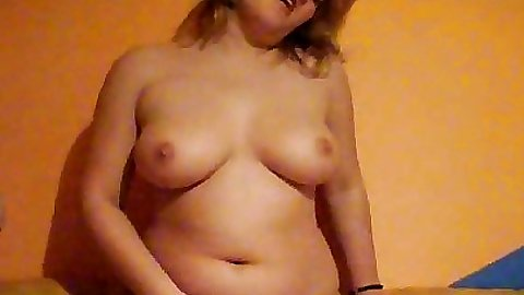 Sexy gf with big natural tits starting to blow dick