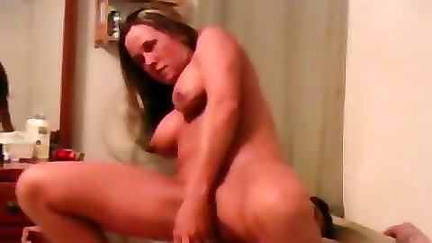 Busty milf performing a simple husband fuck