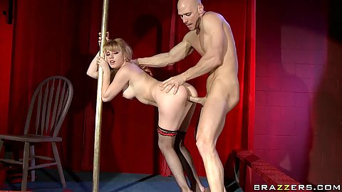 Lexi Belle deep doggy fucked by a strippers pole