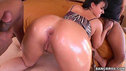 Hot Kentra Star gets filled and deep throats black dick