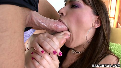 Dana Dearmond gets a penis forced down her throat