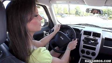 Sexy Milf going for a ride as the driver