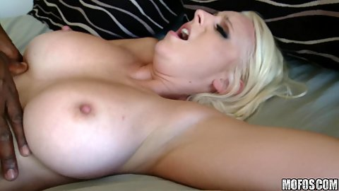 Black cock hard pumping horny busty milf