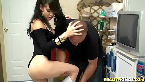 Hot latina behind the counter