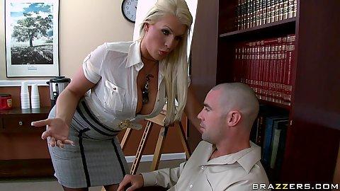 BIg tits Sadie makes a junior exec please her at work