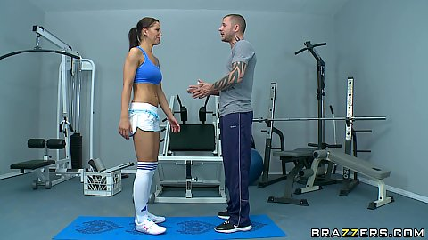 Big butt Angel and her personal workout instructor