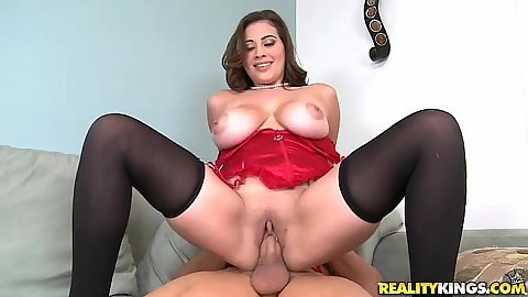 Selina peels her pussy while she fucked in lingerie