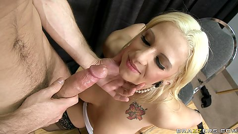 Big tits lylity takes penis between her big tits