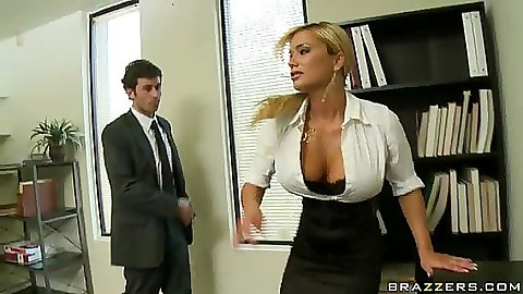 Divorced couple that works together has to fuck it