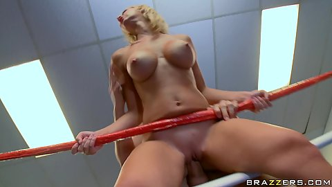 Jessica gets cum in her mouth and he rnose