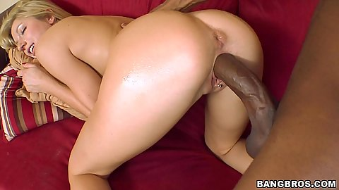 Kylee bends over for massive black cock inside her