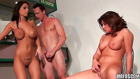 Slut party and a big tits tanned bitch fucked on the bar