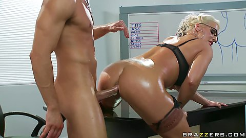 Sadie Swede fucked doggy style deep anal fuck