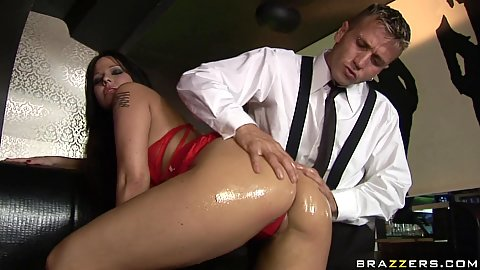 Hot ass probed at the public bar