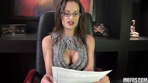 Officer pervert and a slut in glasses