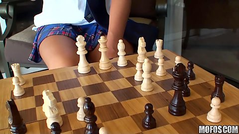 I know that girl playing some chess for cock