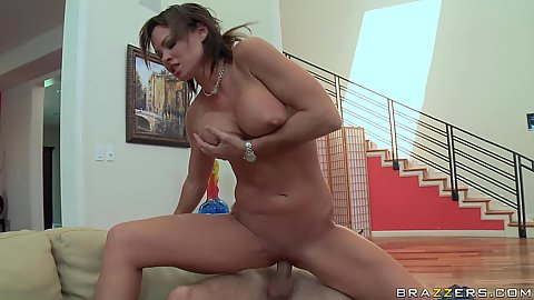 Big tits milf sitting on cock in the living room Rhylee