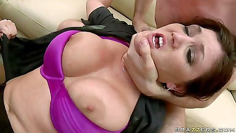 Big tits officer Clair Dames gets fuck uped