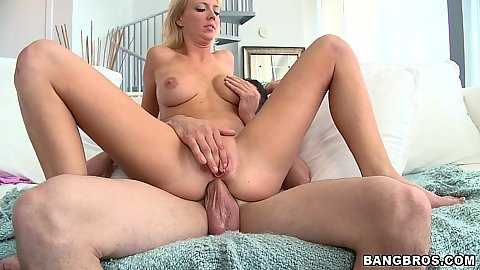 Sydney sitting on penis anal fuck reverse cow girl