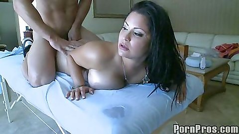 Sophia lomeli squeezing her big tits and facial