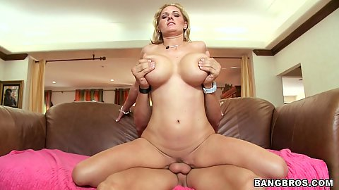 Squirting milf with big tits Zoe riding shaft