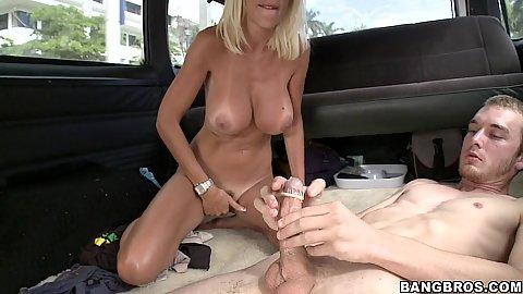 Big tits Puma Swede sits on cock reverse cow girl
