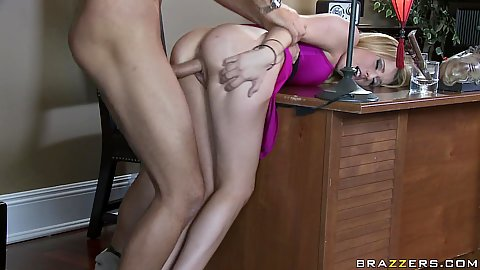 Blonde milf housewife Lexi doggy fucked