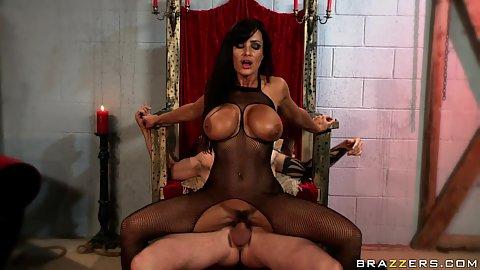 Lisa Ann reverse cow girl sitting on penis