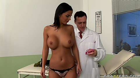 Big tits Angelika has some tits problems