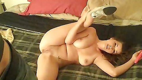 Milf gf relaxing with her legs appart and a dildo
